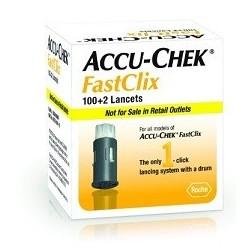 Accu-Chek FastClix 100+2 lancette pungidito per test della glicemia
