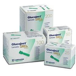 Glucoject Lancets Plus G33 25 lancette pungidito per test della glicemia