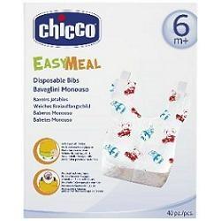 Chicco Easy Meal Bavaglini Monouso per Bambini dai 6 Mesi - 40 Pezzi