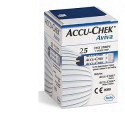 Accu-Chek Aviva 25 strisce reattive per la misurazione della glicemia