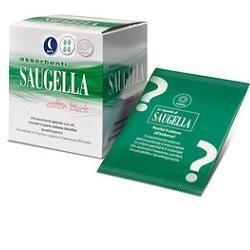 Saugella Cotton Touch - 12 Assorbenti Notte con Ali in Cotone Idrofilo