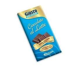 Giusto Barretta di Cioccolato al Latte Senza Zuccheri Aggiunti 85 g