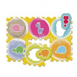 Chicco Tappeto Puzzle Animali per Bambini da 1 a 4 Anni