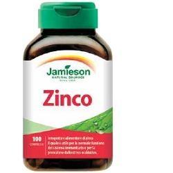 Jamieson Zinco integratore per pelle, unghie e capelli 100 compresse