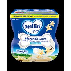 Mellin Merenda Latte e Vaniglia 2 vasetti da 100g