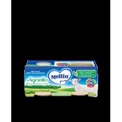 Mellin Omogenizzato per Bambini Gusto Agnello 2 vasetti da 80g