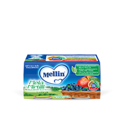 Mellin Omogenizzato alla Frutta Mela e Mirtilli 2 vasetti da 100g