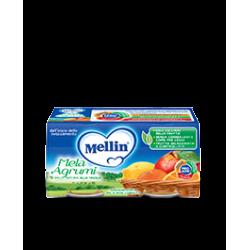 Mellin Omogenizzato alla Frutta Mela e Agrumi 2 vasetti da 100g