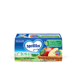 Mellin Omogenizzato alla Frutta Mela 2 vasetti da 100g