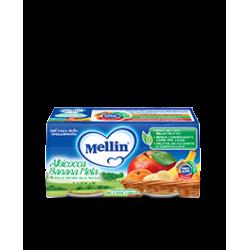 Mellin Omogenizzato alla Frutta Albicocca Banana e Mela 2 vasetti da 100g