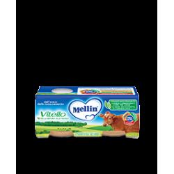 Mellin Omogenizzato per Bambini Gusto Vitello 2 vasetti da 80g