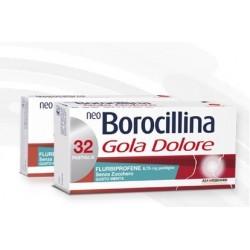 Neoborocillina Gola Dolore 32 Pastiglie Gusto Menta Senza Zucchero
