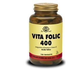 Solgar Vita Folic 400 - Integratore di acido folico 100 tavolette