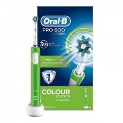 Oral B PRO 600 CrossAction Spazzolino Elettrico Ricaricabile Verde