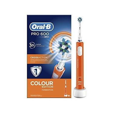 Oral B PRO 600 CrossAction Spazzolino Elettrico Ricaricabile Arancione b392bedc66c5