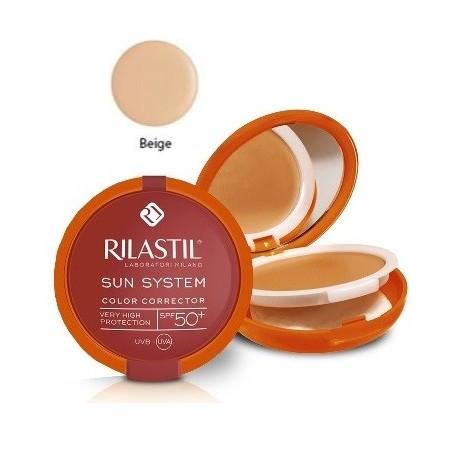 nuova collezione presentazione bella vista Rilastil Sun System Fondotinta Correttore del Colore Protezione Solare SPF  50+ Beige
