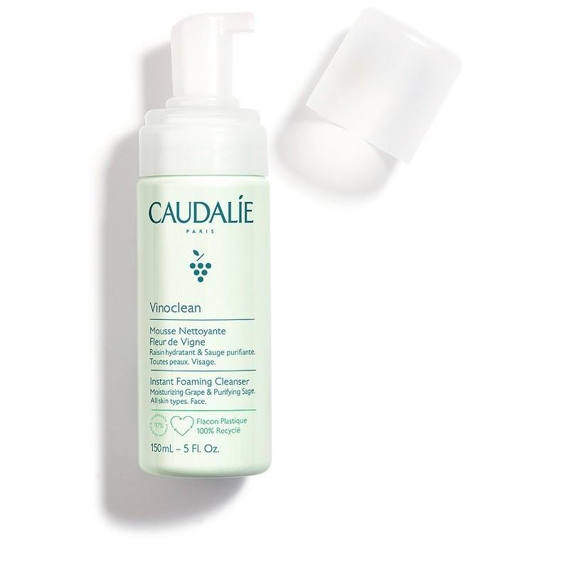 Caudalie Vinoclean Schiuma Mousse detergente viso senza sapone Fleur de Vigne 150 ml