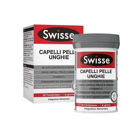 Swisse Capelli Pelle Unghie Integratore Alimentare con Biotina 60 Compresse