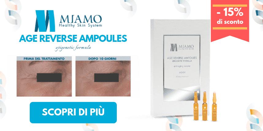 -15% di sconto su Miamo Age Reverse Ampoules