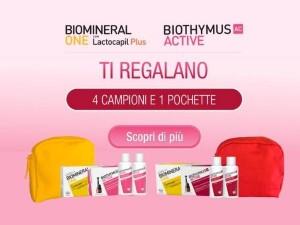 Pochette Biomineral e Biothymus in omaggio!
